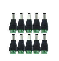 100 Stücke 12 V 2,1 x 5,5mm DC Power Stecker Jack Adapter Stecker Stecker für CCTV einfarbige LED-Licht