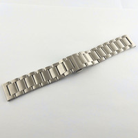 22mm Silver Color Brushed 316L Stainless Steel Watch Bands W...