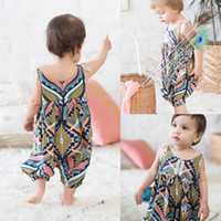 926ad1c58ce Baby Grils Romper 2018 New Fashion Geometric Boho Haren Rompers Newborn  Infant Sleeveless Jumpsuit Bodysuit Kids Summer Boutique Clothing