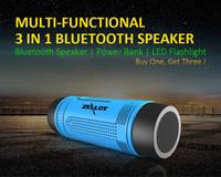 ZEALOT S1 Stereo Esterno Colonna Kablosuz Hoparlör Bluetooth Con LED Torcia 4000 mAh Batteria Radyo FM TF Kart Yuvası