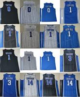 Duke Blue Devils College - Kyrie - Trikots 1 Irving Harry 1 Giles Grayson 3 Allen Brandon 14 Ingram Jayson 0 Tatum 4 Redickr - Genähte Trikots