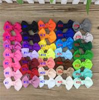 Hot 35pcs / lote 2.5inch Grosgrain Cinta de la cinta Arcos con clip Boutique Cinta de la cinta de la cinta Horquillas para niños Accesorios para el cabello