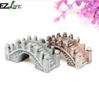 Decorazione acquario Carino Mini Arch Bridge Modello One Piece Micro Ornamenti Paesaggio Decor Resina naturale 1.5 * 4.5 cm PT0634