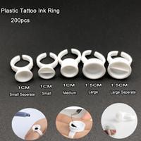 Пластиковые татуировки чернила кольцо для бровей перманентный макияж всех размеров белый пигменты татуировки держатель чернил кольца контейнер/Кубок