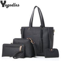 Women Bag Set Top Handle Big Capacity Female Tassel Handbag . 7da0bb84e62a1