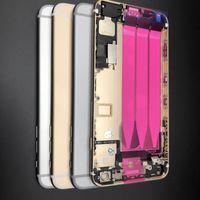 Yüksek Kaliteli Arka Orta Çerçeve Şasi Tam Konut Meclisi Pil Kapağı Kapı Arka Flex Kablo ile iphone 6 6 S 6g 6 Artı Ücretsiz Kargo