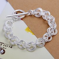 New 925 Sterling Silver Chain Bracelet for Women Men, 925 Sil...