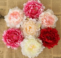 Big Size Artificial Silk Simulation Peony Flowers Head For H...