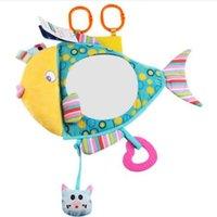 Горячие детские игрушки мягкие плюшевые погремушки малыша автокресло рыбы зеркало детская коляска висит новорожденных развивающие игрушки 0-12 месяцев