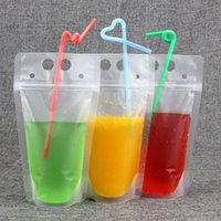 Bolsas Para bebidas claras de 450ML Sacos de Grande Capacidade Fecho translúcido para uso manual