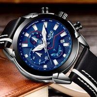Yeni 2018 LIGE moda tasarım marka İzle erkek deri spor tarihi chronograph kuvars İzle erkek hediye saati Relogio Masculino