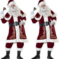 Hot Popular Christmas father costume adult Santa Claus Chris...