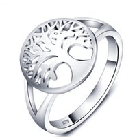 925 Silver Ring Fashion Tree of Life Ring Classic Accessorie...