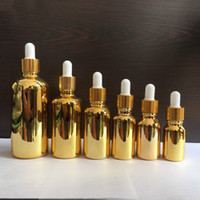 Essential Oil Vial Cosmetic Packing Bottles, Gold Silver Gla...