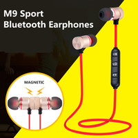 Earphone M9 Sport Wireless Bluetooth Earphones Metal Magneti...