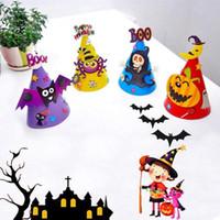Хэллоуин DIY 3D мультфильм красочные бумаги ведьма шляпа дети дети шапки игрушки подарки фестиваль Праздник партии шляпы праздничные принадлежности аксессуары