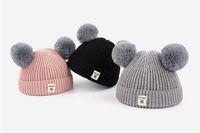 New Beanie Chapéus para Barrete Boys and Girls Hat Inverno Bonnet Designer Gorros Marca Crianças Criança de Desportos Headwear 48-52 cm