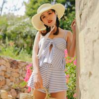 La mode des femmes belles robe taille haute Bikini Tankini solide maillot de bain avec bandoulière Halterneck Maillots de bain