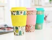 Novelty Bamboo Fiber Powder Mugs Coffee Cups Milk Drinking C...