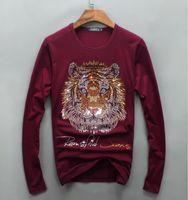 Luxuxdiamantentwurf der Großhandelsmänner langärmlige Art und Weiset-shirts Mann-lustige T-Shirts Markenbaumwolloberseiten und -t-stücke 0103