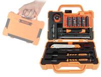 Jakemy JM 8139 45 en 1 Set de destornillador preciso Juego de reparación Herramientas de apertura para teléfonos celulares Coche de automóvil Mantenimiento electrónico 10sets