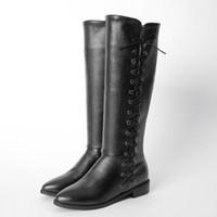 Winter Stiefel Botas Mujer Große Und Kleine Größe 30-52 Frauen schuhe Kniehohe Stiefel Runde Kappe Quadratische Höhe Zunehmende Qualität 511