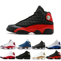 Cheap New 13S Mens Basketball Shoes Bred Black Brown White T...