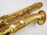 新しい到着柳沢B-901 Baritone Saxophone Brass Tubeゴールドラッカーの表面SAXブランド商品のマウスピース送料無料