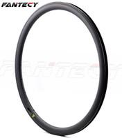 Livraison gratuite Carbone Simple Jante 700C 38mm Profondeur 25mm Largeur Léger Carbone roue Pneumatique / tiubulaire Route Vélo Jante 3k / UD armure