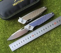 NIGHTHAWK New M390 blade TC4 Titanium Handle flipper Folding...