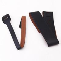 Bracelet en cuir PU noir