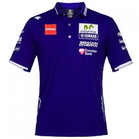 Nouveau Blue Movi Star Golf T-shirts Uniforme T-shirt Polo Pour Le YAMAHA M1 Racing Team