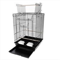 """الحرة الشحن بالجملة 23 """"قفص الطيور مستلزمات الحيوانات الأليفة قفص معدني مع فتح اللعب أعلى أقفاص الطيور السوداء"""