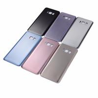 Mit IMEI Nummer Für Samsung S8 G950F S8 Plus S8 + G955F Zurück Glas Batterieabdeckung Tür Gehäuse Fall + Kleber Aufkleber