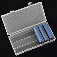 8 x 18650電池のためのVBESTLIFEポータブルハードPP透明電池ケースホルダー収納ボックス(バッテリーは含まれていません)フック付き