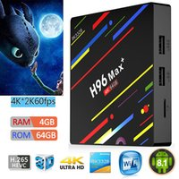 H96 Max plus lecteur de média 4K 64 Go TV BOX 4 Go DDR3 / 64GB Android 8.1 4K IPTV Media Player S8 PRO TX92 T95Z
