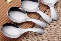 Multifunktion 304 Rostfritt stål Ellipse Spoons Tillämpa Led Tea Kaffe Ice Cream Butter Kan matcha alla typer av porslin