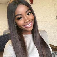 Глиняные шелковые верхние кружевные парики шелковые прямые бразильские волосы девственницы полные кружева фронт человеческие парики волос 4,5 * 5 шелковые базовые кружевные парики