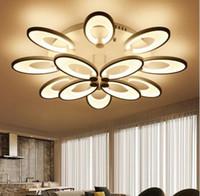현대 원격 제어 LED 천장 램프 알루미늄 아크릴 샹들리에 천장 Luminaria 드 TETO 디밍 LED 펜던트 조명 Lustres LLFA