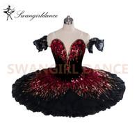 Ballet Professionnel Espagnol Tutus Ballet Ballet Professionnel Tutu Noir Cygne Ballerine Tutu Adultes Classiques KidsBT9045B