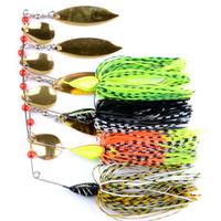 4 adet / grup Topwater traktör moda Lures küçük balık Buzzbait etek Kuyruk Spinner yemler kaşık spor Söğüt yaprağı Metal cazibesi yüksek kalite