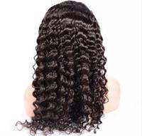 Kostenloser Versand Brasilianische Perücke Menschliches Haar Beliebte 130% Dichte Schweizer Spitze Tiefem Locken Remy Vrigin Volle Spitze Natürliche Farbe Schwarze Frau