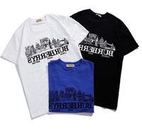 9f93af6d010a0 Moda Harajuku T Shirt azul BBr Feminino T-Shirts para as mulheres Carta  Quente impressão