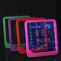 LED Light Fluorescent WordPad Billboard Fun Light Toys for K...