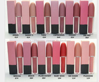 Hot-M trucco AC 10 colori fuso opaco Liquid Lip Gloss Rossetto duraturo Lipgloss rouge un levre Maquillage