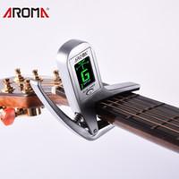 Aroma AC-05 2-in-1 Electric Guitar Bass Tuner Capo Capos de Guitarra Para Guitarra Eléctrica Acústica Bass Accesorios de Aleación de Zinc
