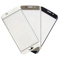 Samsung Galaxy S6 Kenar G925 G9250 G925F G925P için En İyi Kalite Dış Cam Ön Cam Lens Yedek Parçalar