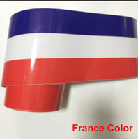 20 STÜCKE 1 Mt * 15 CM Tricolor Blume Nationalflagge Farbton Film Refit Ein Auto Motorabdeckung Auto Top Body Sticker