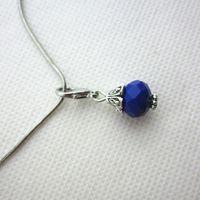Горячая продажа 100 шт/темно-синий месяц камень Кристалл мотаться подвески застежкой Омар подвески для стекла плавающей медальоны