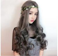 Азиатские новые горячие Прямые продажи длинные парик установить прямые длинные волнистые женские анти подлинной головные уборы производителей на складе